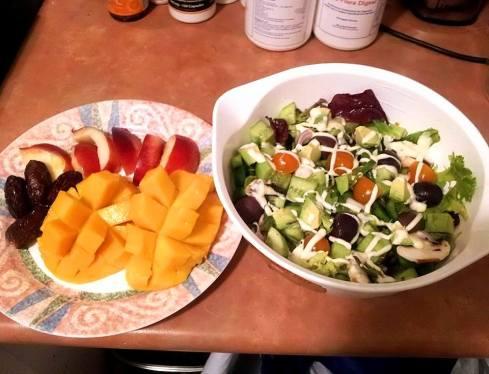 salad n fruit dinner