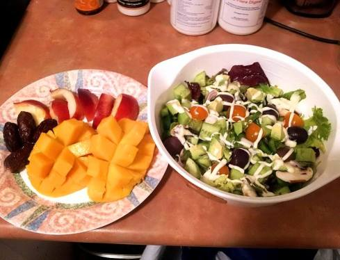 salad n fruit dinner